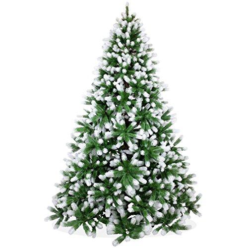 Künstlicher Weihnachtsbaum 240cm in Premium Spritzguss Qualität, angeschneite Douglastanne, Tannenbaum mit PE Kunststoff Nadeln, Douglasie Christbaum im beschneit Design