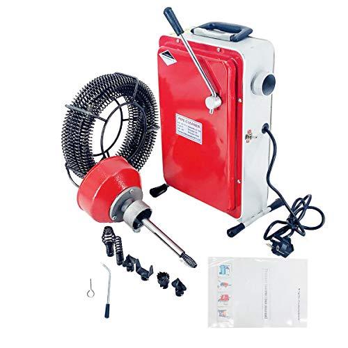 SUDEG Rohrreinigungsmaschine (GQ-100) Allround Rohrreinigungsmaschine, 400 U/m Rohrreiniger Abflussreiniger mit Spirale Elektrische Hochdruckreinigungsmaschine Rohre Pipeline Baggermaschine