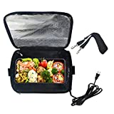 Portable Oven 110V Personal Food Warmer,Heating Lunch Box,Electric Slow Cooker For Meals Reheating & Raw Food Cooking for Office Work/Picnic/Camping/Family gathering(110V) (Black)