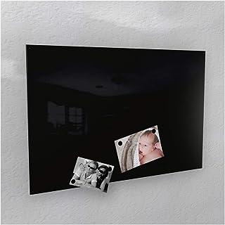 Colours-Manufaktur Pizarra magnética 3tamaños 40x 60cm/50x 80cm/60x 90cm RAL 9005Jet Negro de Alto Brillo, Schwarz...