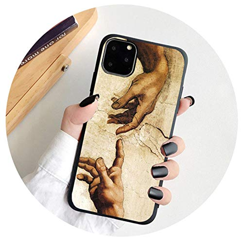 For iPhone 12 6S 7 8 Plus Case Art Abstract Painted For iPhone 11 Pro MAX XR XS SE 2020 Silicone Phone Case Soft TPU Back Cover