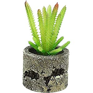 ZhenLang Creative Artificial Plants Fake Succulent Retro Potted Plants Faux Greenery Flowers Ornaments for House Garden Office Decor