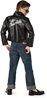 Charades Fifties Thunderbirds Leather Children's Costume Jacket, Large
