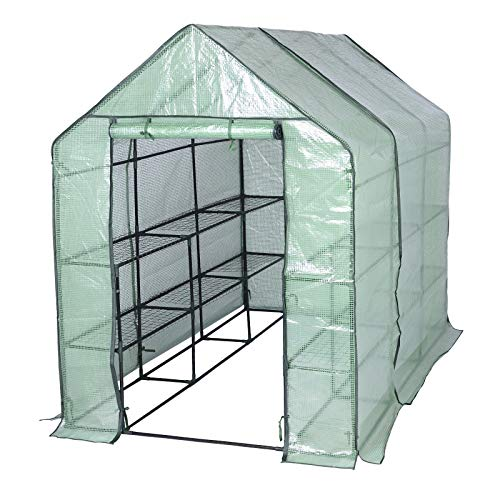 WOLTU Garden Greenhouse Walk In Plastic Tomato Greenhouse Vegetable Fruit Flower Plant Shed with...