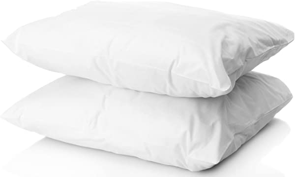 数字装饰两套 2 个高档金色羽绒替代睡眠枕头加 2 个免费枕套