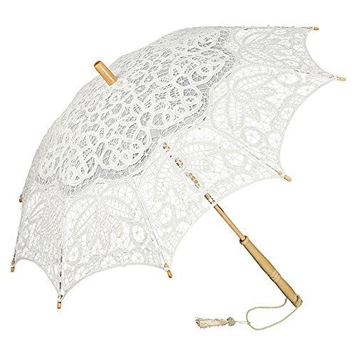 VON LILIENFELD Hochzeitsschirm Brautschirm Vivienne Elfenbein Ivory Spitze Deko Sonnenschirm Accessoire