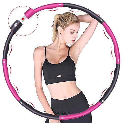 Fitness Reifen, Verwendet für Gewichtsverlust und Massage, Kann in 6-8 Teile Unterteilt Werden, 75-95 cm Durchmesser, Das Gewicht des Reifenschaumgewicht Beträgt ca. 1.2kg (4 Abschnitte Rot + Grau)