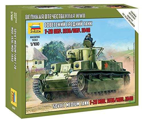 ズベズダ 1/100 ソビエト軍 T-28 中戦車 プラモデル ZV6247
