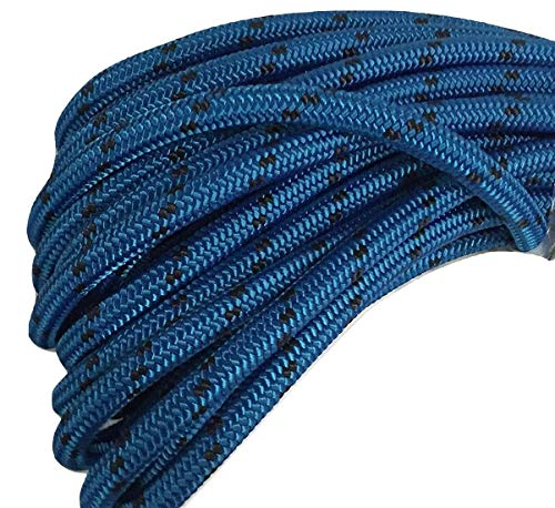 5/8 Inch by 150 Feet Double Braid Polyester Arborist Rope, Blue and Black