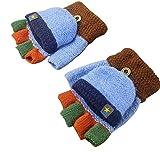 BETOY Gestrickte Kinderhandschuhe, Handschuhe Kinder Fingerlos Warme Herbst- Und Winterhandschuhe für Pendeln, Hausaufgaben, Spielen,6-13 Jahre alt