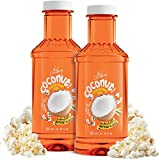 32 oz Coconut Popcorn Popping and Topping Oil Soy Blend with Authentic Theater Butter Flavor - Pop...