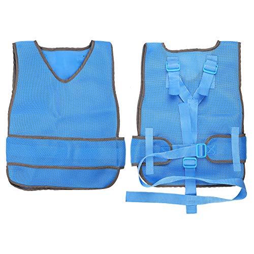 Chaleco de silla de ruedas arnés de pecho de sujeción chaleco de sujeción de silla de ruedas chaleco transpirable ajustable anticaída para ancianos(S)