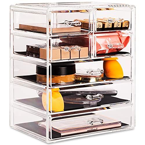 Sorbus Cosmetics Makeup and Jewelry Big Storage Case Display - Stylish Vanity, Bathroom Case (3...