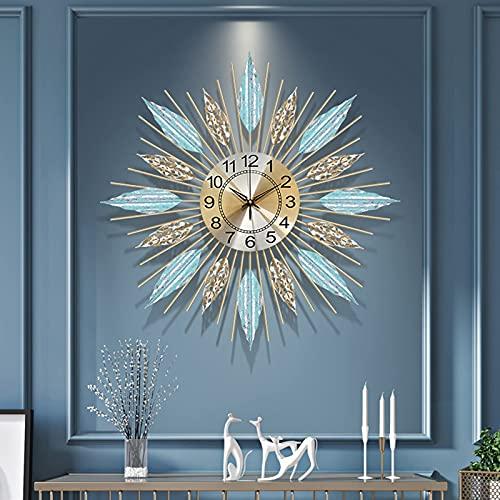 AMYZ Reloj de Pared Sunbert de Mediados de Siglo de 23 Pulgadas,Reloj de Pared Decorativo de Arte silencioso Moderno,Elegante Reloj de Pared Starburst Reloj de Pared Creativo para Sala de Estar