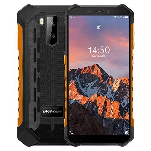 "Ulefone Armor X5 Pro【4GB RAM 64GB ROM】, Android 10 4G Móvil Antigolpes, MTK6762 Octa-Core, 5.5 ""IP68 Impermeable Moviles Todoterreno, Dual SIM, 5000mAh Batería, Desbloqueo Facial NFC GPS Naranja"