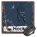 3dRose LLC 8 x 8 x 0.25 Inches Hockey Player Mouse Pad (mp_16310_1)