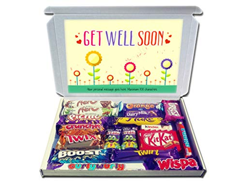 Personalised GET Well Soon Gift Hamper Chocolate Selection Box