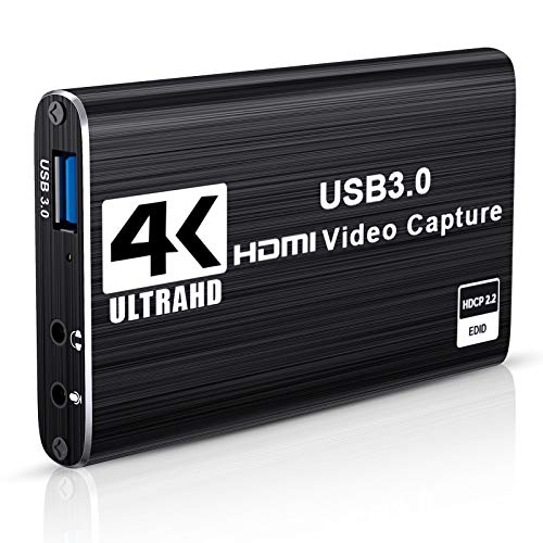 DIWUER Capturadora de Video Audio HDMI, 4K HDMI a USB3.0 Convertidor...