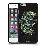 Head Case Designs Oficial Harry Potter Slytherin Reliquias de la Muerte XIV Funda de Gel Negro Compatible con Apple iPhone 6 Plus/iPhone 6s Plus