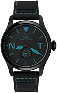 Toy Watch Aviator 2Fly Black and Turquoise Mens Watch TTF07BKTQ