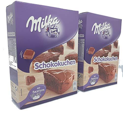 Milka Schokokuchen Backmischung 2er Pack 2 x 230g mit Backform
