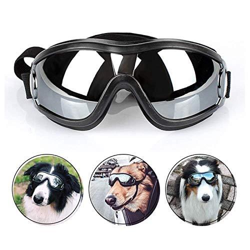 ASDFGHJKL Los Mascotas Doggles UV De Protección A Prueba De Viento Gafas De Natación del Perro Gafas Protectoras Gafas con Correa Ajustable