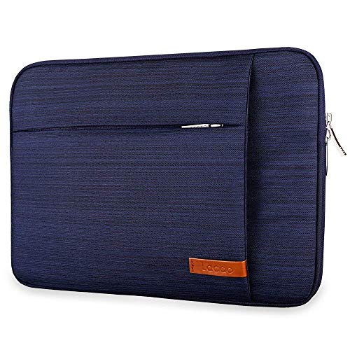 Lacdo 12.9 inch Laptop Sleeve Case Compatible 13' New MacBook Pro Touch Bar A1989 A1706 A1708 | 2018 MacBook Air Retina A1932 | XPS 13 | Surface Pro 2017 Water Repellent USB-C Notebook Bag, Blue