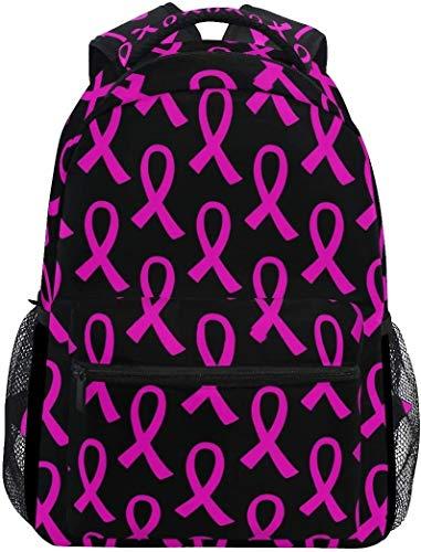 Tactical Backpack For Men Breast Cancer Pink Ribbon Casual Bookbag Daypack Laptop Teen Girls Boys School Bag