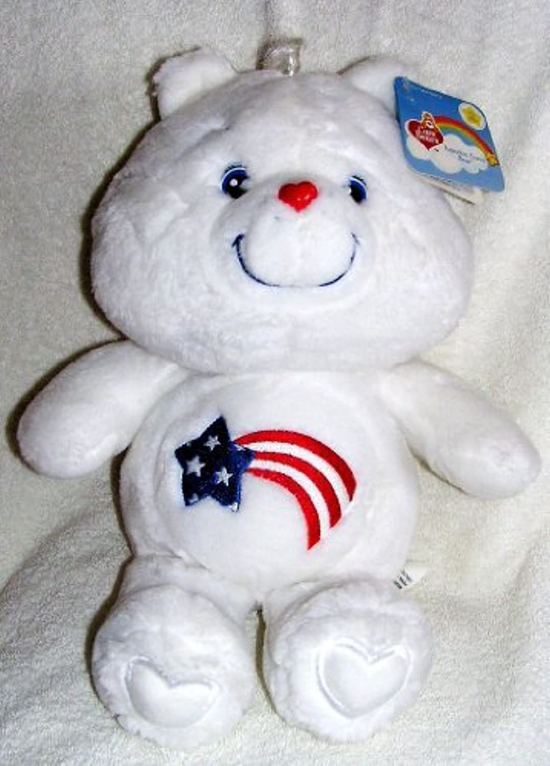 2002 Carlton Cards 20th Anniversary Care Bears 16 Plush America Cares Bear by Care Bears