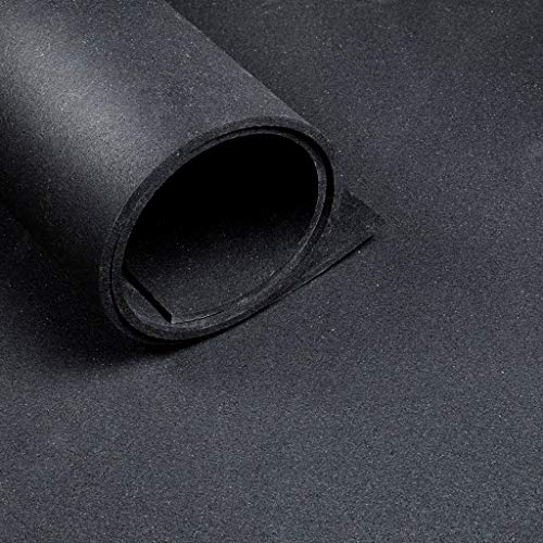 Pavimento sportivo *Premium* - Largo 1,25 m - Spessore 6 mm - Nero… (Rotolo da 10 metri (12,5 m2))