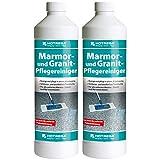 2 x HOTREGA Marmor- und Granit-Pflegereiniger 1000ml Flasche