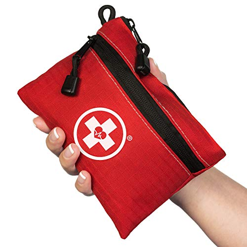 Swiss Safe Survival First Aid Kit Pocket Sized Pouch, Lightweight & Compact with Dual Zippers (200 Piece)