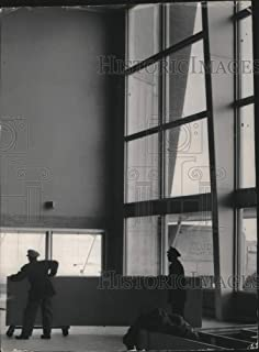 Historic Images - 1955 Vintage Press Photo New furniture is moved into Mitchell Field airport terminal