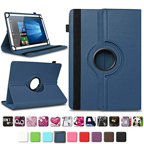 NAmobile Tablet Tasche kompatibel für Blaupunkt Atlantis A10.G402 A10.G403 Hülle Schutzhülle Tablettasche mit Standfunktion 360 Crad drehbar Universal Tablethülle, Farben:Blau