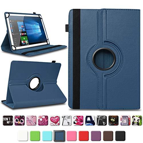 NAmobile Tablet Schutzhülle kompatibel für Lenovo TAB3 10 Business/Plus Tasche Tablettasche Hülle Standfunktion 360° drehbar Cover Universal Tablethülle Case, Farben:Blau