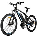 ANCHEER 350/500W Electric Bike 27.5'' Adults Electric Commuter Bike/Electric Mountain Bike, 36/48V Ebike with Removable 10/10.4Ah Battery, Professional 21/24 Speed Gears