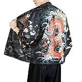GUOCU Hombre Mujer Camisa Kimono Estilo Japonés Estampado Holgado Cloak Cardigan Casual Chaqueta Color2 L