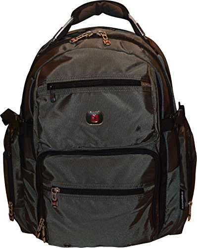 SwissGear Breaker 16' Laptop Backpack Travel School Bag Dark Olive