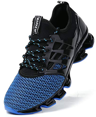 Athletic Sneakers for Men Blue Tennis Shoes Size 6.5 Runner Cross Trainers Stylish Sport Running Walking Jogging Shoe mesh Breathable Comfort