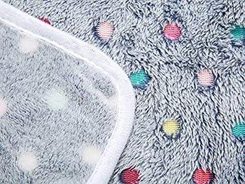MOCOTONO Couverture en Peluche Ultra-Souple pour Chien/Chat 3 Pièces Pois Small (60 * 40cm)