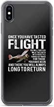 Compatible for iPhone X/XS Once You Have Tasted Flight - Aviation Quote TPU Solid Durable Polycarbonate Back Flexible Protective Design
