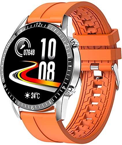 TYUI Pulsera Inteligente Bluetooth Llamada Multifuncional Podómetro Deportes Pulsera Cardio Reloj Inteligente para Mujeres y Hombres-B