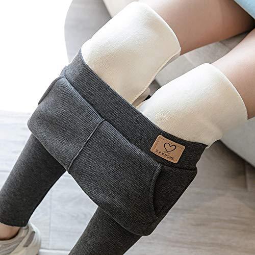 Leggings más Cachemir Leggings Gruesos De Terciopelo Casuales para Mujer Leggins Ajustados Resistentes Al Frío Mujer para Correr Al Aire Libre Legging Cálido Invierno Sof