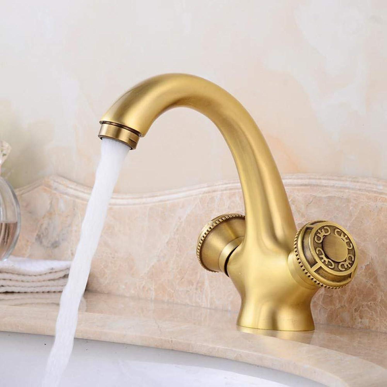 VIOYO Wasserhahn Wasserhahn Massivem Messing Bronze Doppelgriff Control Wasserhahn Küche Bad Becken Mischbatterie