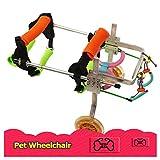 Mascota Perro/Cachorro/Gato Carrito para Silla de Ruedas 2 Ruedas Carrito de rehabilitación de Patas traseras Perros Cochecitos para recuperación de Patas traseras Perro discapacitado