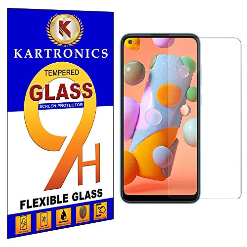 Kartronics Compatible with (Pack of 2) Samsung A21/A21S/A71/A81/A80/A90/Note 10 Lite Premium Tempered Glass Screen Protector Slim 9H Hard 2.5D with Full Installation Kit and Warranty