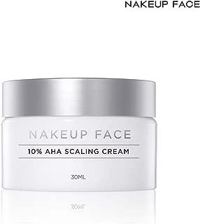 Nakeup Face Renewal New AHA Scaling Cream 10%, 10% Glycolic Acid, Exfoliant, Sebum and Pore Control, Dead Skin Cell, Whitening, Moisturizing, Exfoliating