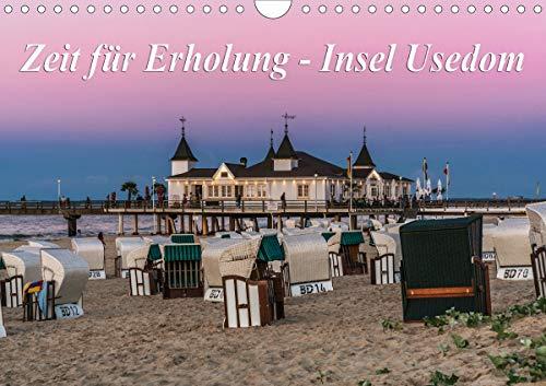 Zeit für Erholung - Insel Usedom/Geburtstagskalender (Wandkalender 2021 DIN A4 quer)