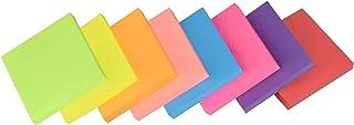 ZCZN 付箋 メモ帳 強粘着 ノート マルチカラー 8色 76x76mm 100枚x8パッド