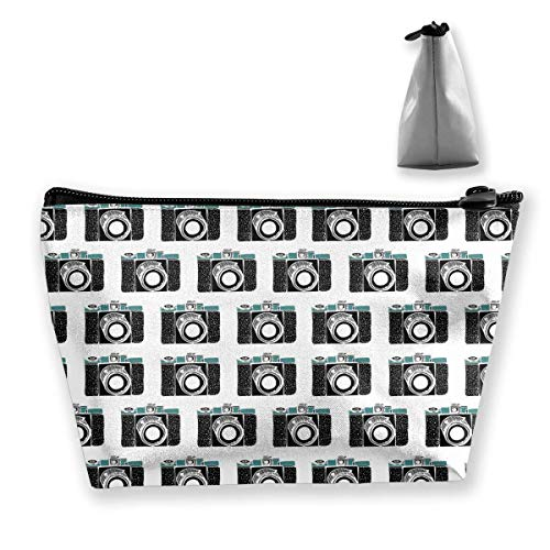 Make-up tas Cosmetic Bag Travel make-up Pouch toilettas met ritsvak voor vrouwen en meisjes oude camera